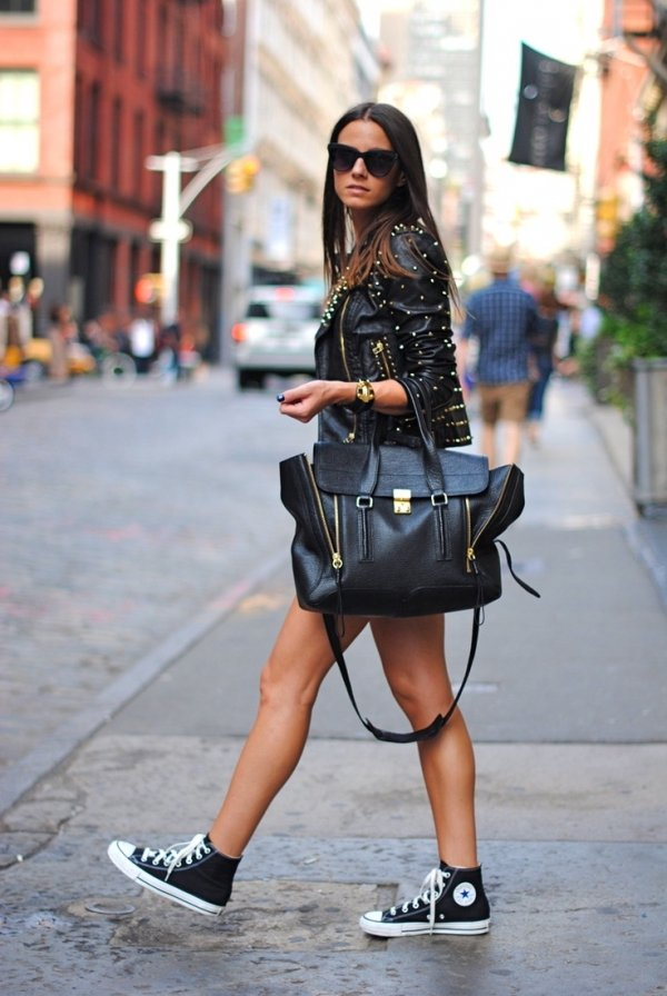 7 Streetstyle Ways To Wear Converse And Rock It