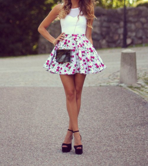 Floral Skirt? Yes, Please