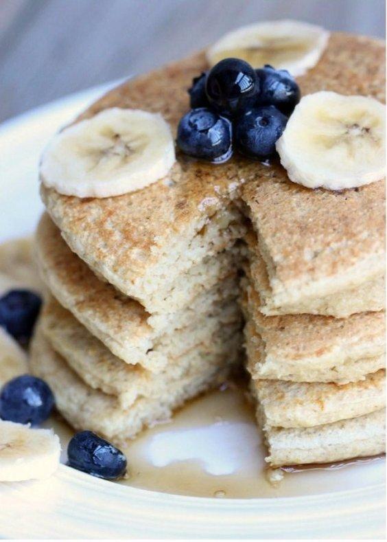 Heathy Oatmeal Protein Pancakes