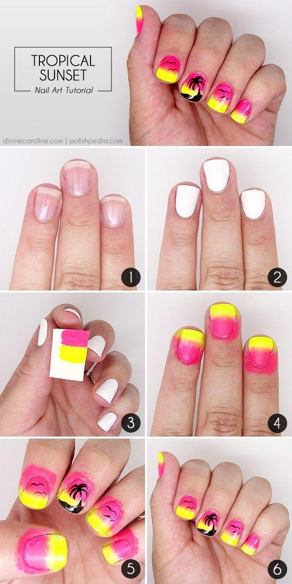 Красивые узоры на ногтях для начинающих пошаговое фото