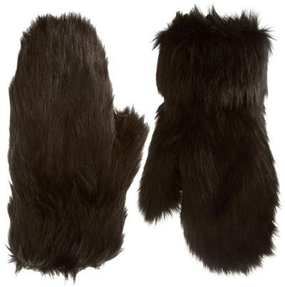 ASOS Fake Fur Mittens