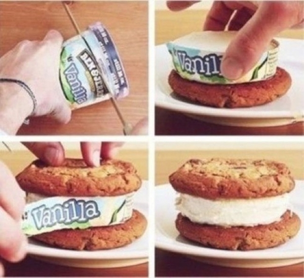 Easiest Cookie Ice Cream Sandwich EVER!