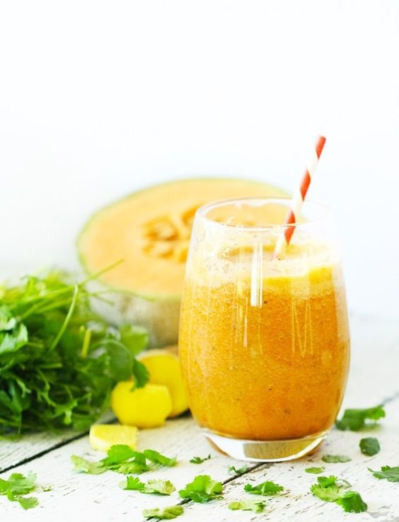 Cantaloupe, Ginger and Cilantro