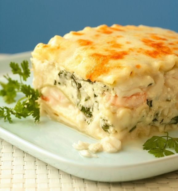Seafood Lasagna Recipe — Dishmaps