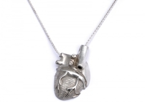 Peggy Skemp Half Heart Necklace
