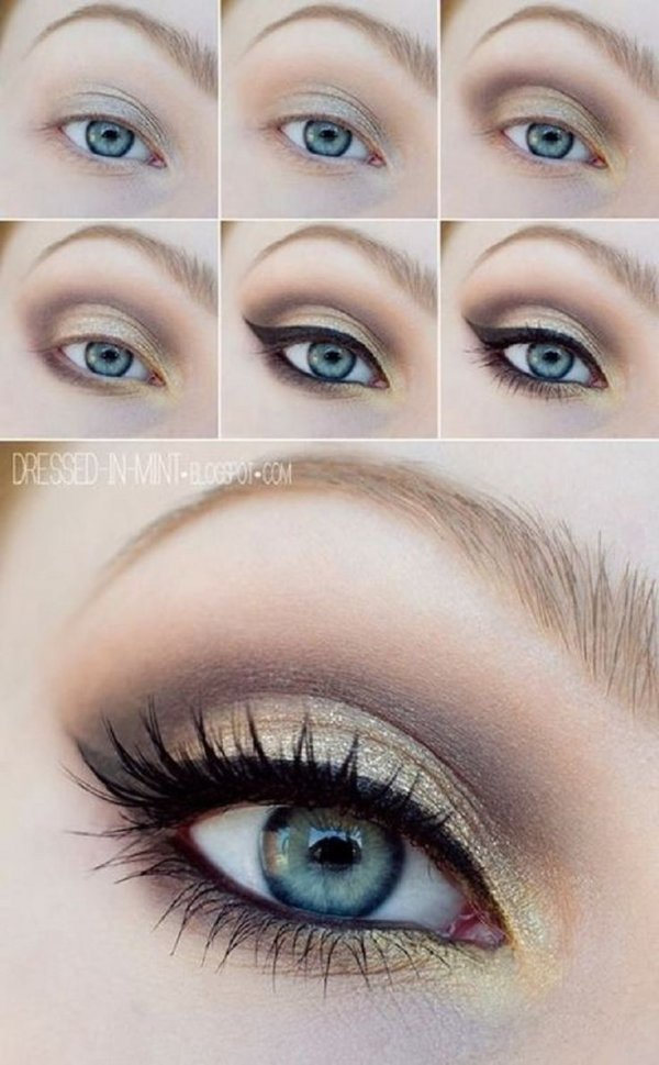 Accent with Gold or Copper - 7 Makeup Tricks to Make Your Blue…