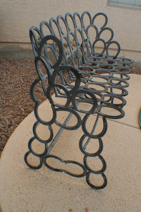 Horseshoe Bench 37 Horseshoe Crafts To Try Your Luck