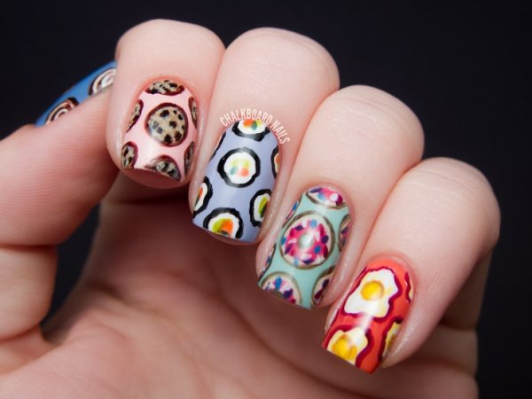 Different Art Designs : All different foods food nail art designs that will