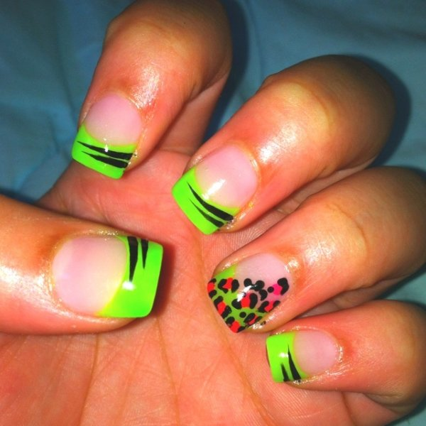 Neon French Tip Nail Designs: 62 Fabulous French Tip Designs ... …