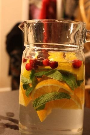 Citrus and Cranberry Water