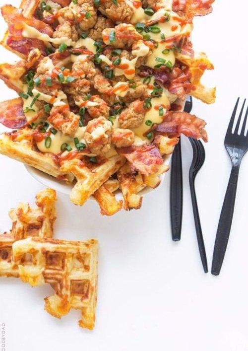 Chicken and Waffles Nacho