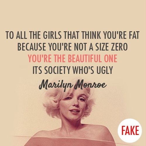 Marilyn Monroe - 7 Quotes on Body Image Every Teen Should ...