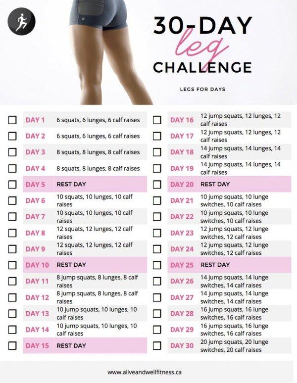 30-Day Leg Challenge