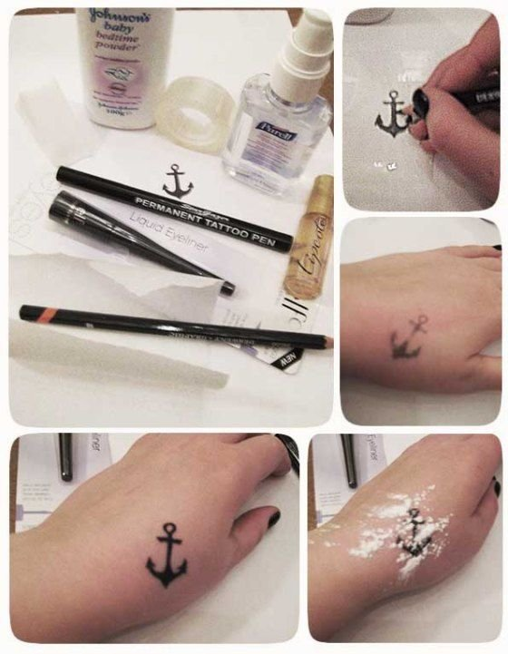 Love tattoos but don 39 t want to get inked try these for How to make a fake tattoo look real