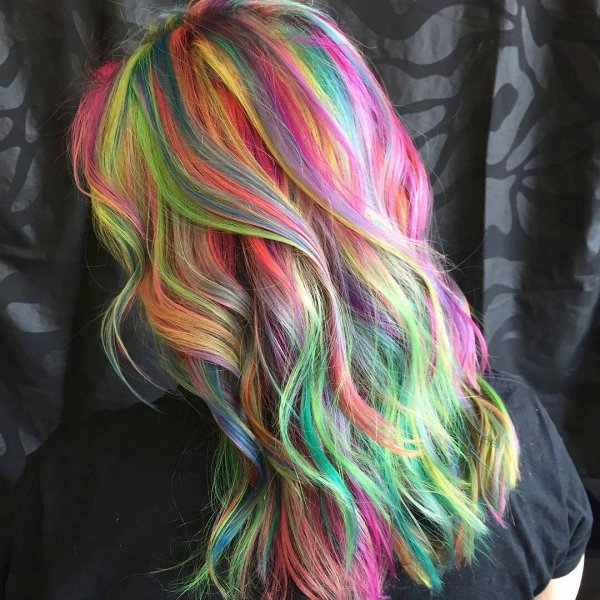 Her Rainbow Balayage How You Can Rock The Rainbow Trend