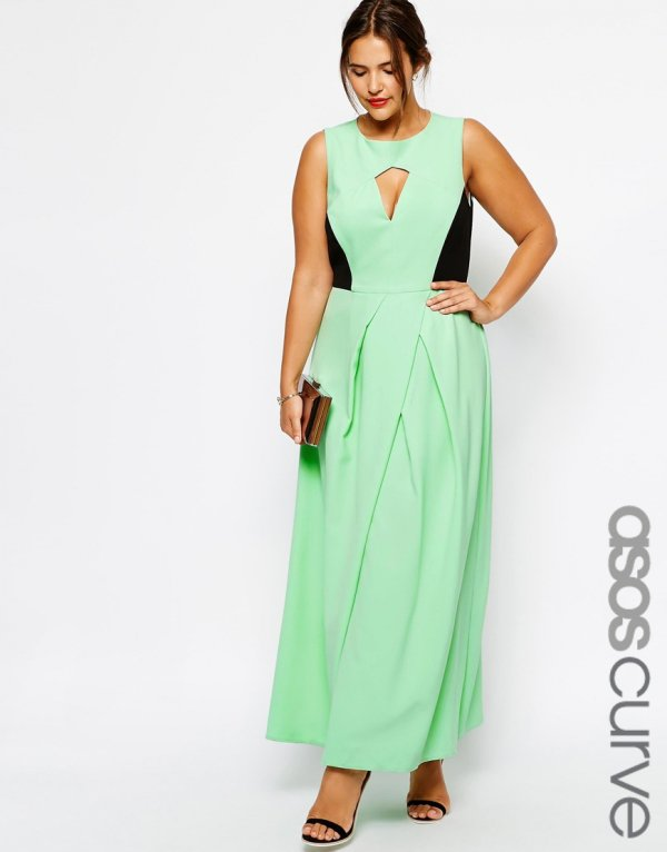 Asos Curve Cutout Maxi Dress