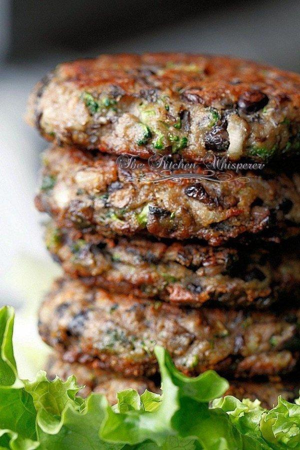 Chunky Portobella Veggie Burger