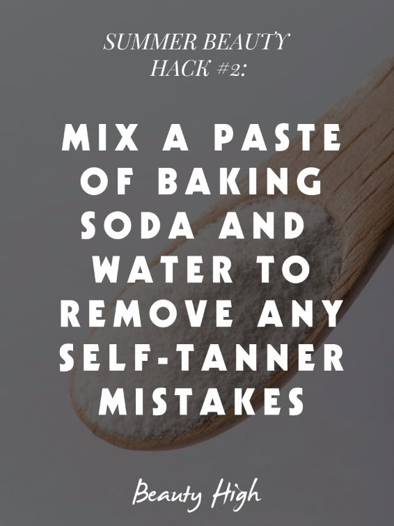 Self-Tanner Removal