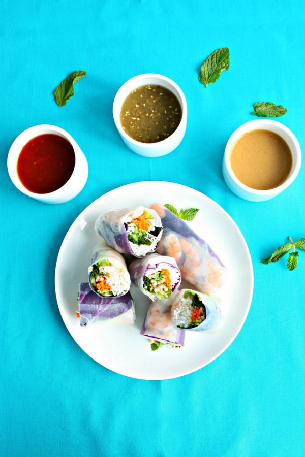 Shrimp Summer Rolls - No Cook Summer Dishes You'll Love ...