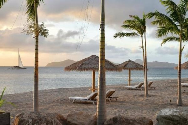 Lie in the Sun at Paradise Beach in St. Kitts and Nevis