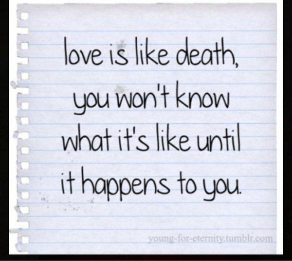 Love is like Death