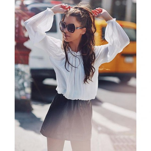 white, clothing, sleeve, blouse, hairstyle,