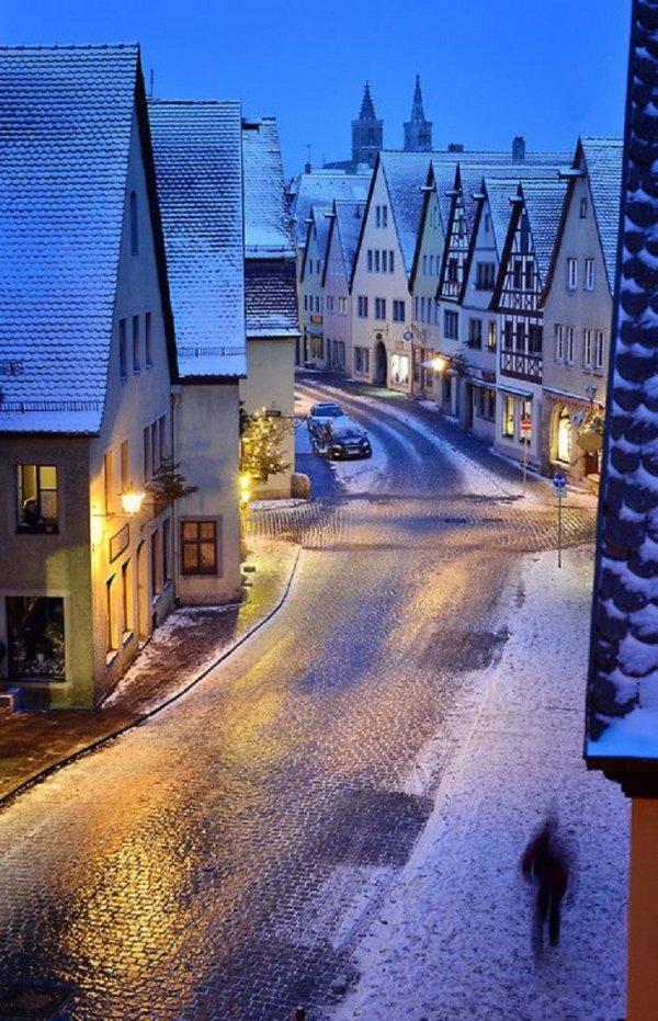 Snowy Rothenburd, Bavaria