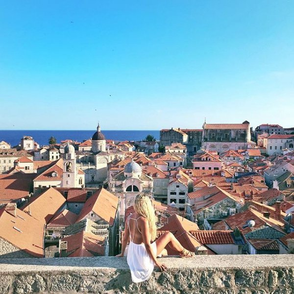 Dubrovnik's Old City, residential area, badlands, town, panorama,