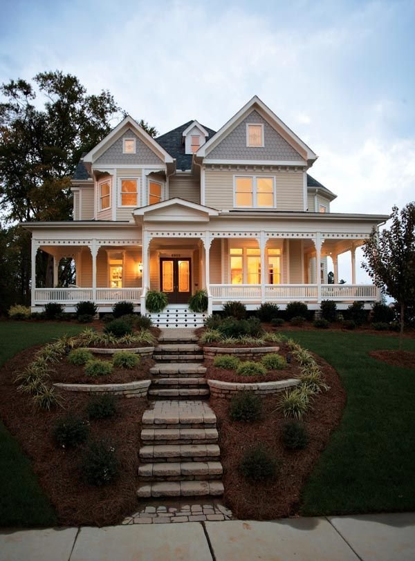 Country Farmhouse Victorian House