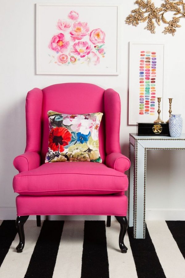 Who Could Resist Sitting in a Bubblegum Pink Chair?