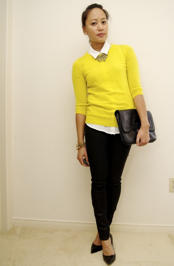 Yellow Sweater - Outfit Inspiration for the Perfect Office Looks…