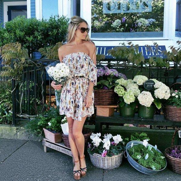 clothing, floristry, flower, floral design, dress,