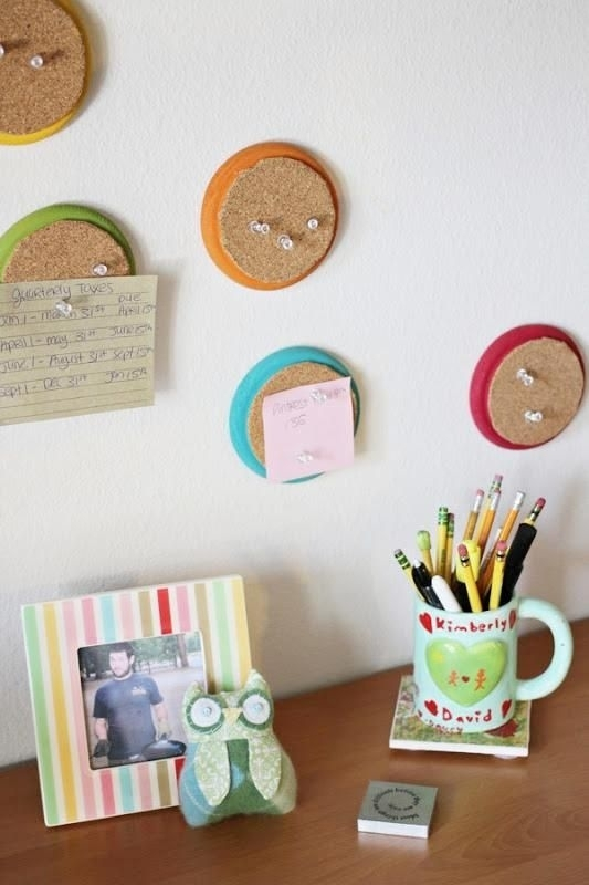 22 Circle Cork Boards 34 Diy Dorm Room Decor Projects