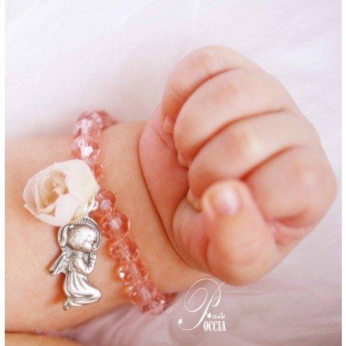 Religious Baby Girl Baptism Bracelet