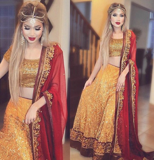 clothing, color, sari, brown, maroon,