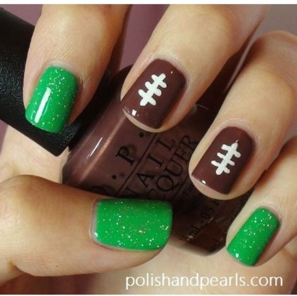 Via 27 Football Nail Art