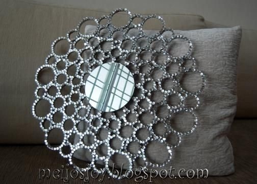 Rhinestone Wall Mirror bling mirror - 41 diy mirrors that deserve more than a second…