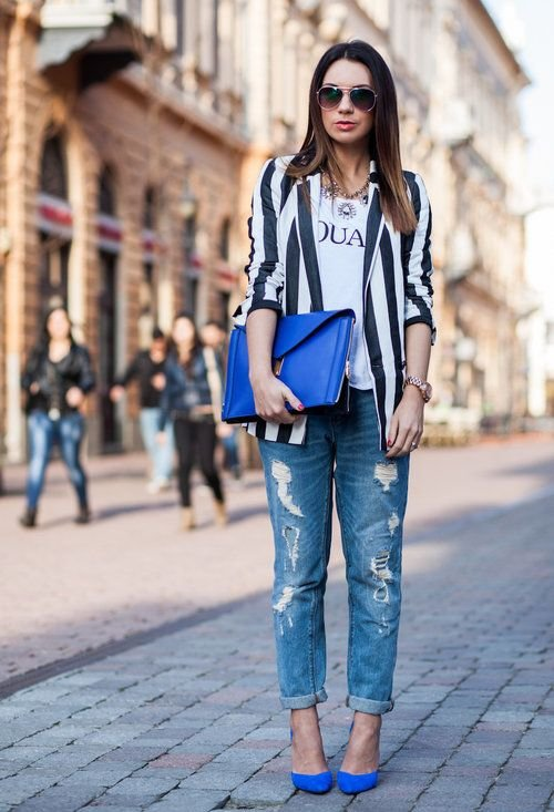 With a Striped Jacket