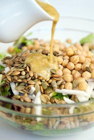 Jicama Pepita Garbanzo Salad