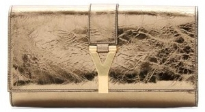 Yves Saint Laurent Gold Shimmer Clutch