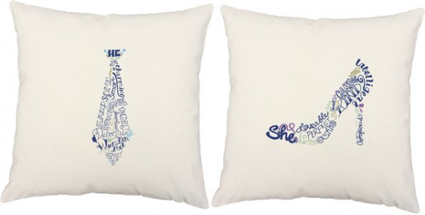 His & Her Throw Cushions