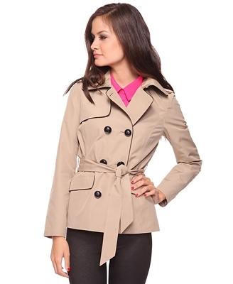 Trench Coat W/ Contrast Piping