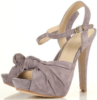 Topshop Lois Suede Knot Detail Platform Sandals