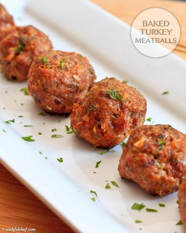 Baked Turkey Meatballs - Love Meatballs: Wait Til You Try ...