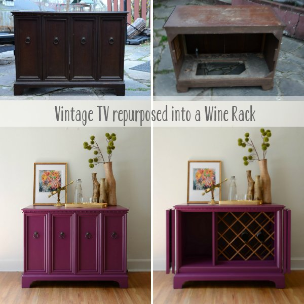 Turn a TV Stand into a Wine Rack