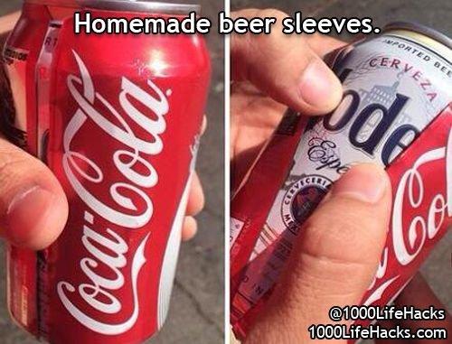 Homemade Beer Sleeve