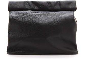 Black Roll-Top Clutch