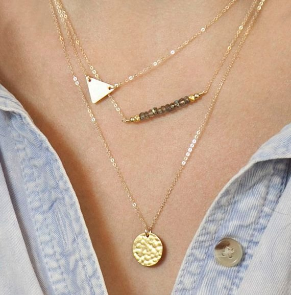 LayeredAndLong Gold Necklace Set