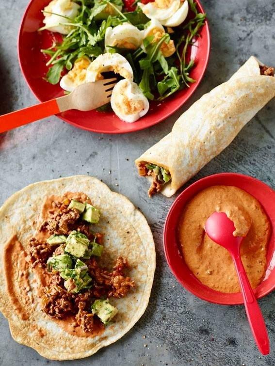 Made Ahead of Time Breakfast Burritos