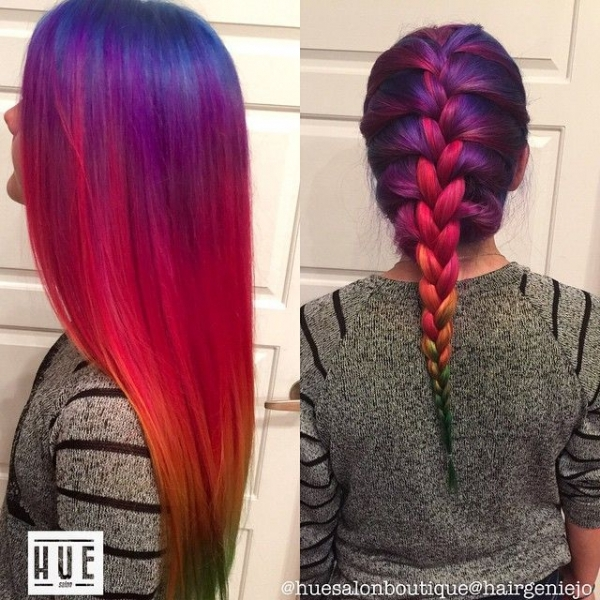 Rainbow Braids That Will Make You Want to Dye Your Hair